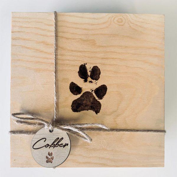 Wooden Box Dog Urn Large