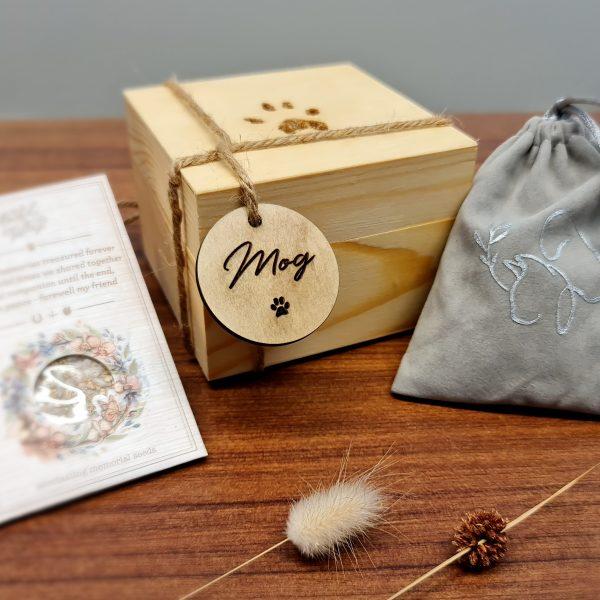 dog urn wooden box custom